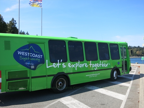 Guided Tour Bus in Stanley Park, Vancouver, BC, Canada