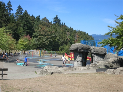Variety Kids Water Park in Stanley Park, Vancouver, B.C., Canada