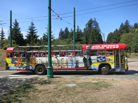 Bus Tour in Stanley Park, Vancouver, B.C., Canada