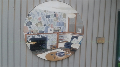 Portal Mural - the interior of the B.C. Binning House