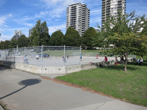 Roller Hockey Rink at Sunset Beach at False Creek, Vancouver, BC, Canada