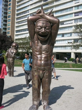 A-Maze-Ing Laughter Artwork at English Bay, Vancouver, B.C., Canada