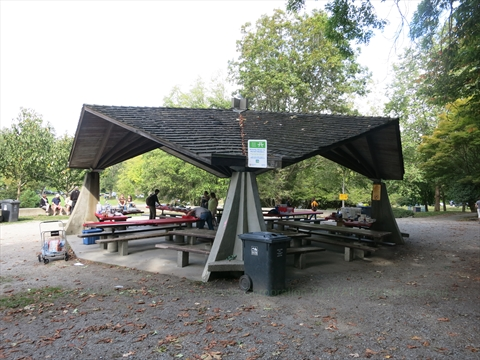 Second Beach Reservable Picnic Area in Stanley Park