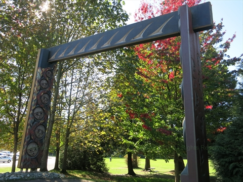 Susan Point Welcome Gateway in Stanley Park
