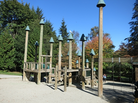 Playground in Stanley Park, Vancouver, B.C., Canada