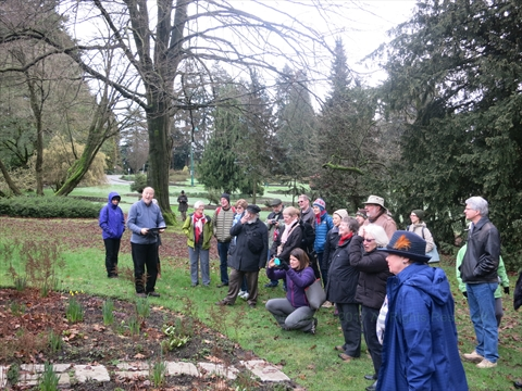 Shakespeare Garden walking tour in Stanley Park, Vancouver, B.C., Canada