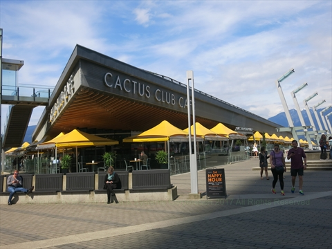 Cactus Club restaurant at Jack Poole Plaza, Vancouver, BC, Canada