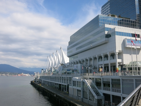 Canada Place in Coal Harbour, Vancouver, B.C., Canada