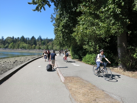 Stanley Park seawall, Vancouver, B.C., Canada