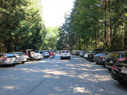 Parking in Stanley Park, Vancouver, British Columbia Canada