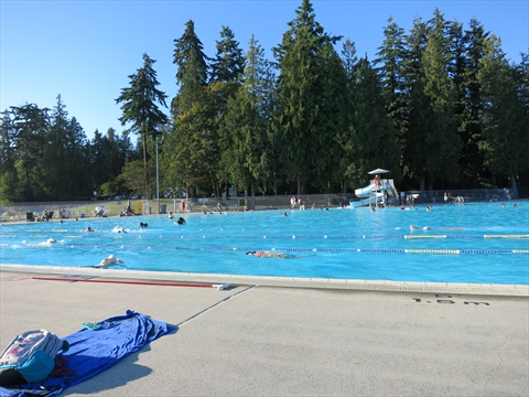 Second Beach Pool in Stanley Park, Vancouver, B.C., Canada