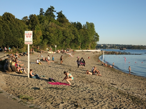 Second Beach in Stanley Park, Vancouver, B.C., Canada