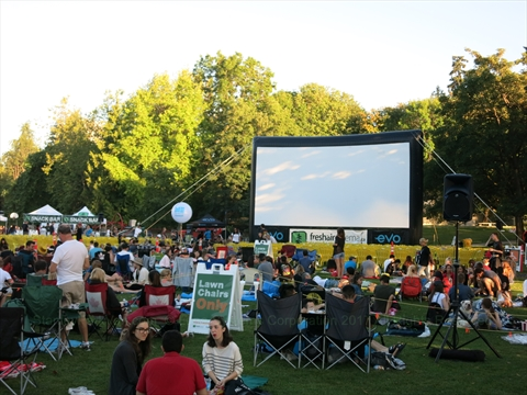 Tuesday Night Movies in Stanley Park, Vancouver, B.C., Canada