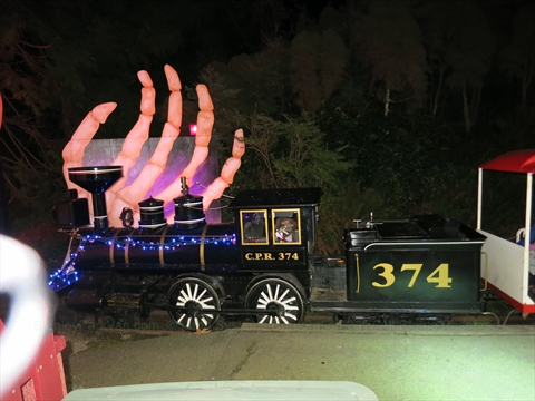 Halloween Ghost Train in Stanley Park, Vancouver, BC, Canada