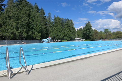 Second Beach Outdoor Swimming Pool in Stanley Park, Vancouver, BC, Canada