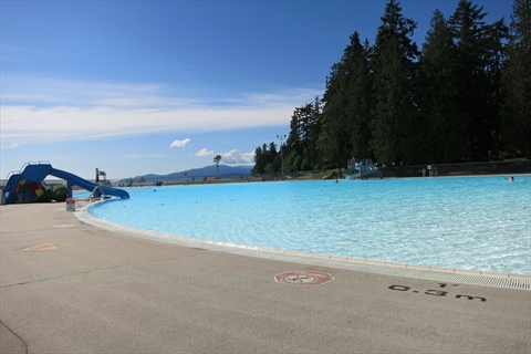 Second Beach Swimming Pool in Stanley Park, Vancouver, B.C., Canada