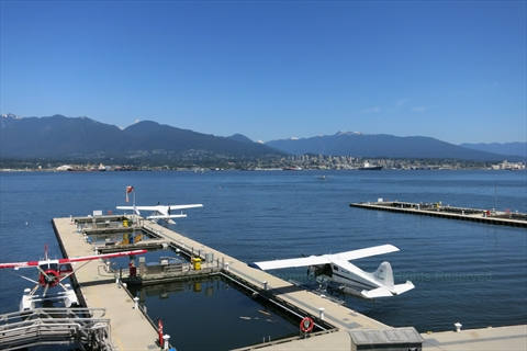 Seaplane Terminal in Coal Harbour, Vancouver, BC, Canada