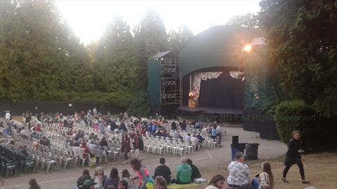 Theatre Under the Stars(TUTS) musical at Malkin Bowl in Stanley Park, Vancouver, BC, Canada