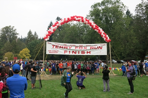 Terry Fox Run at Ceperley Park in Stanley Park, Vancouver, BC, Canada