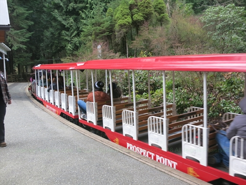 Easter Miniature Train in Stanley Park, Vancouver, BC, Canada