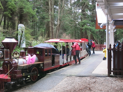 Easter Train in Stanley Park, Vancouver, B.C., Canada