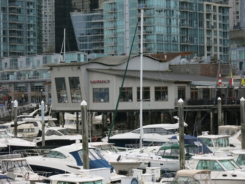 Cardero's restaurant at Coal Harbour, Vancouver, BC, Canada