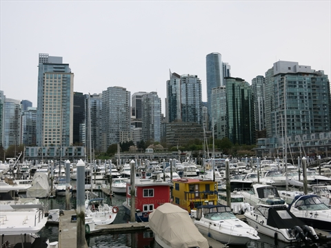 Coal Harbour Seawall in Vancouver, BC, Canada