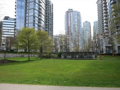 Harbour Green Park in Coal Harbour, Vancouver, BC, Canada