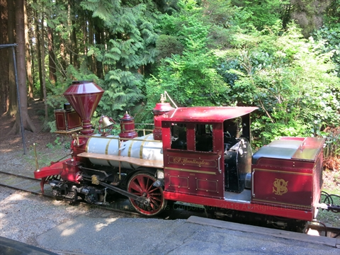 Spring/Summer Miniature Train in Stanley Park, Vancouver, B.C., Canada