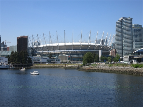 BC Place Stadium, False Creek, Vancouver, BC, Canada