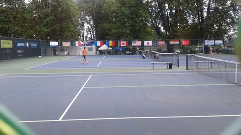 Tennis Tournament in Stanley Park, Vancouver, BC, Canada