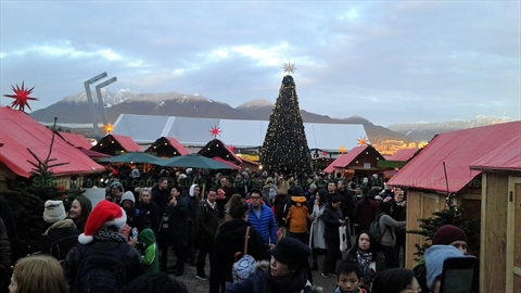 Christmas Market at Jack Poole Plaza, Vancouver, BC, Canada