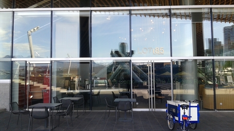 Lot 185 Cafe and Wine Bar at Jack Poole Plaza, Vancouver, BC, Canada