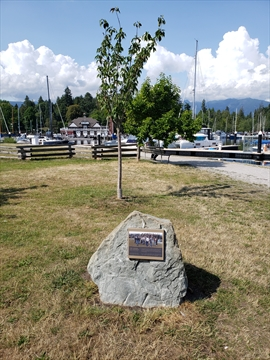 First Known Aids Memorial in Coal Harbour, Vancouver, BC, Canada