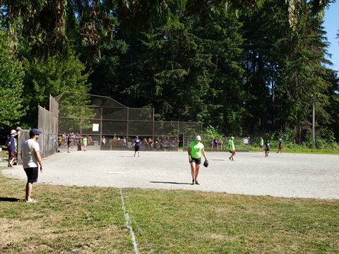 Baseball at Brockton Playing Fields in Stanley Park