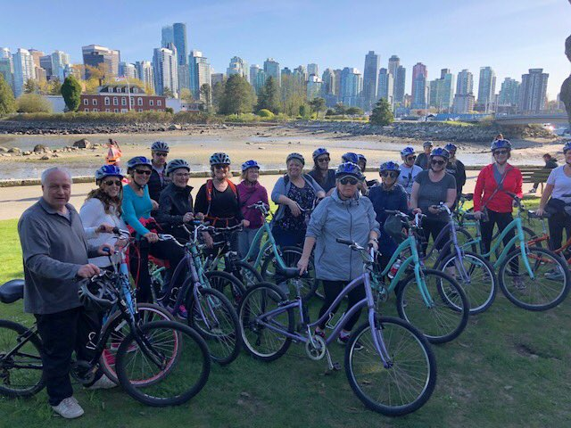 Bicycle tour in Stanley Park, Vancouver, BC, Canada
